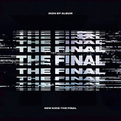 IKON [NEW KIDS:THE FINAL] EP Album BLACK CD+Photo Book+P.Card+Sticker+F.Poster