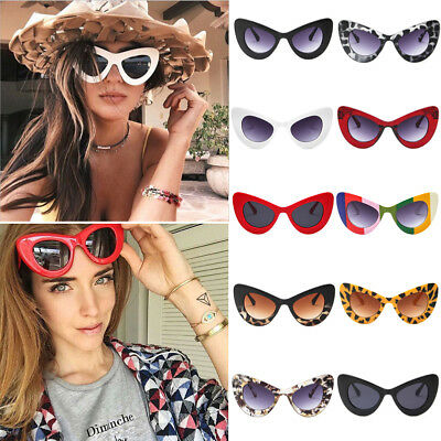 Women Cat Eye Sunglasses Mirrored Shades Eyeglasses Retro Eyewear Glasses Hot