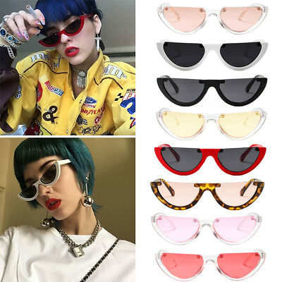 Women Vintage Half Frame Cat Eye Sunglasses Sexy Ladies Fashion Eyewear Retro