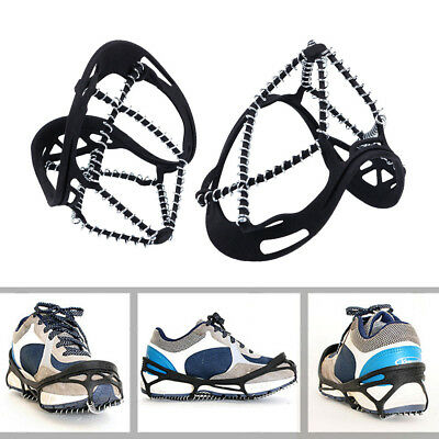 Anti Slip Spring Ice Snow Spikes Grips Grippers Crampon For Shoes Boots Overshoe