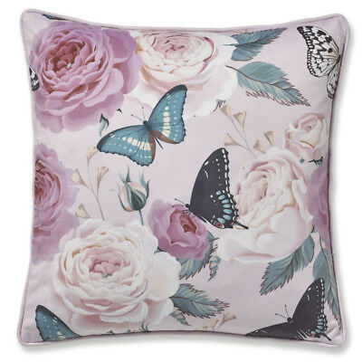 Catherine Lansfield Botanical Butterfly Cushion Cover Pink 43 x 43 cm