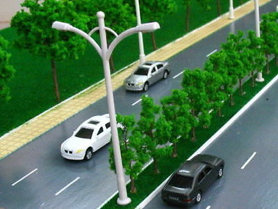 10pcs Double Head Lamp Post Street Lights Lampposts HO - TT SCALE 6V 10cm