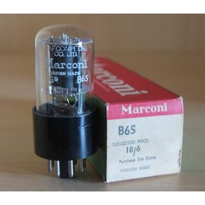 Marconi B65 (Brimar 6SN7GT), valvola preamplificatrice, more tubes on our websit