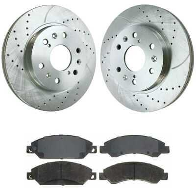 Front Performance Silver Rotors and Metallic Pads Set fits Cadillac & Chevy