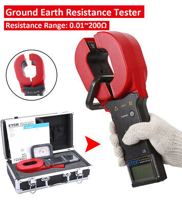 ETCR2000A+ Digital Clamp On Ground Earth Resistance Tester Meter 0.01 to 200 ohm