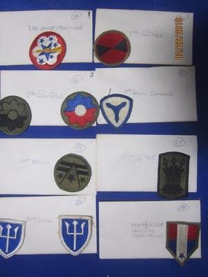 Mixed Lot of Military Patches, WW2, Viet Nam, Old Stock     ( Lot 3)