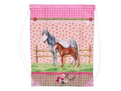 Fashion-Beutel Pferde Motiv 1 Horse Bag   100% Polyester Fashionbeutel Fashion
