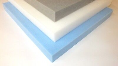 "upholstery foam sheets cushions high density firm reflex memory foam 1"" 2"" 3"" 4"""