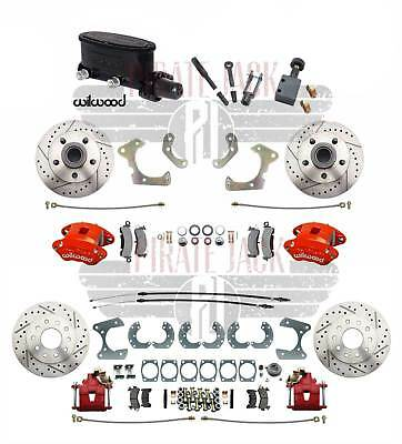 """58-68 Chevy Impala Front Wilwood Disc Brake Kit GM Rear 9"""" Ford Rear End Manual"""