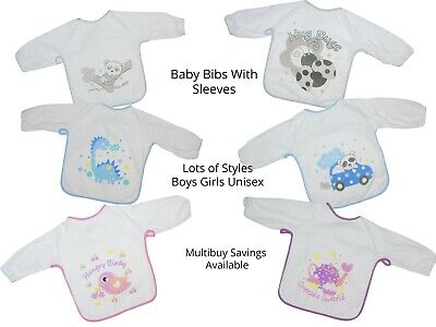 Toddler Bibs with Sleeves Ideal for weaning 6-24 months approx