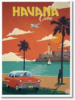Vintage Havana, Cuba Photo Fridge Magnet New