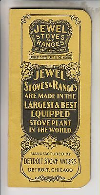 Circa 1918 Note Pad - Jewel Stoves And Ranges - Detroit Stove Works - Buck Bros.