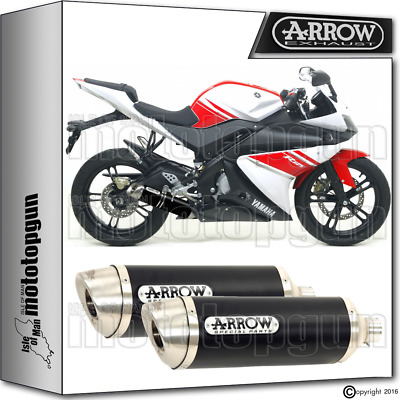 Arrow Exhaust Thunder Black Yamaha Yzf-R 125 08-13