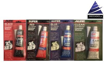 NEW SUPER AURE GASKET MAKER 85g BLACK CLEAR BLUE AND RED