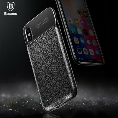 Ultra-Slim Battery Charger Case Backup Power Bank Charging Cover For iPhone X