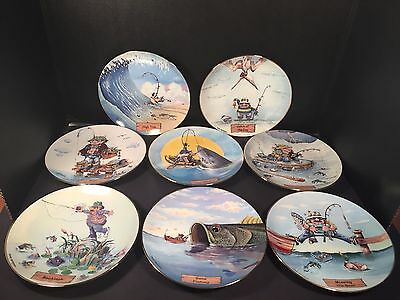 Gary Patterson Danbury Mint Plates The Art of Fishing Collector Decorative
