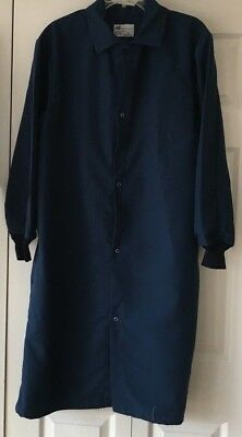 Blue Lab Coat Men Women Long Cuffed Sleeves Side Vents  Size Small  NWOT
