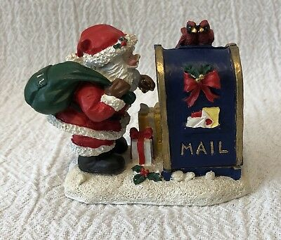 "3"" Midwest of Cannon Falls Santa Claus Opening Mailbox Hinged Christmas Figure"