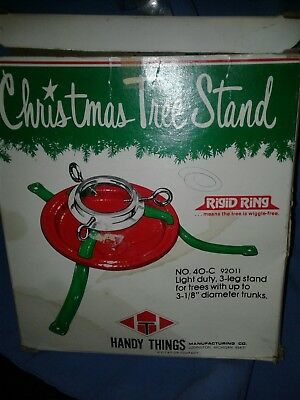 Vintage Handy Things Mfg  Co Christmas Tree Stand No.40-C Complete In Box-Unused
