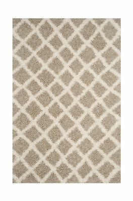 Safavieh Dallas Shag Collection SGDS258D Beige and Ivory Area Rug, 8' x 10'