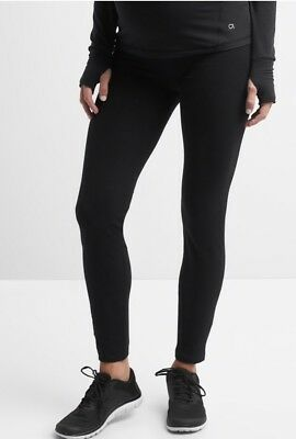 GAP Black Maternity GapFit gFast full panel leggings ~ NWT Medium
