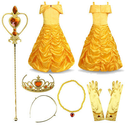 Kids Baby Girls Princess Dress Up Costume Party Prom Fancy Dress Outfit Clothes