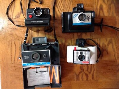 Lot Of Polaroid Land Camera. USED / UNtested