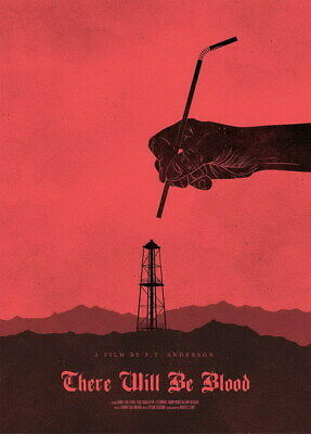 "006 There Will Be Blood - Daniel Lewis Oil USA Movie 14""x19"" Poster"