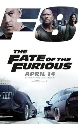 """010 Fast and Furious 8 - Vin Diesel Car Race Ation 2017 Movie 14""""x22"""" Poster"""