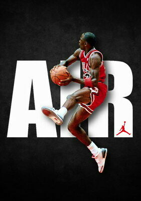 "106 Michael Jordan - MJ 23 Chicago Bulls NBA MVP Basketball 14""x19"" Poster"