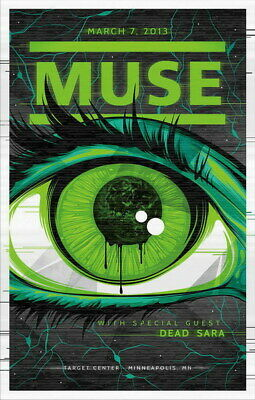 "040 Muse - Art Print Rock Band Music Art 14""x21"" Poster"
