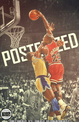 "279 Michael Jordan - MJ 23 Chicago Bulls NBA MVP Basketball 14""x21"" Poster"