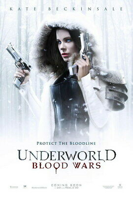 "009 Underworld - Kate Beckinsale Vampire Werewolves Movie 24""x35"" Poster"