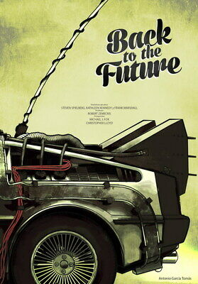"""006 Back to Future - DMC Racing Car Time Travel Classic Hot Movie 24""""x34"""" Poster"""