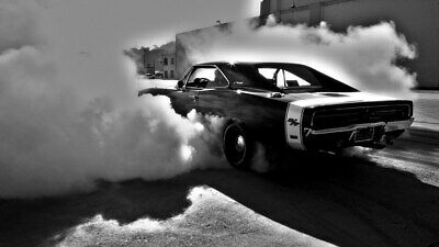 """014 Dodge Charger 1970 - Fast Furious 7 Muscle Race Car 42""""x24"""" Poster"""