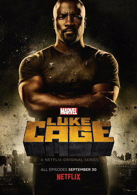 """003 Luke Cage - Netflix Mike Colter Super Hero TV 24""""x34"""" Poster"""