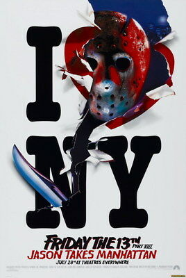 """008 Friday The 13th - USA Classic Horror Thriller Movie 24""""x35"""" Poster"""
