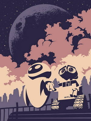 "023 WALL E - Pixar Eve Space Adventure Cartoon Movie 24""x32"" Poster"