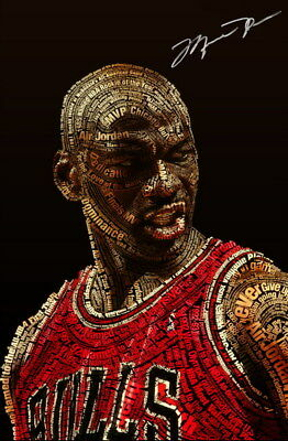 "034 Michael Jordan - MJ 23 Chicago Bulls NBA MVP Basketball 24""x36"" Poster"