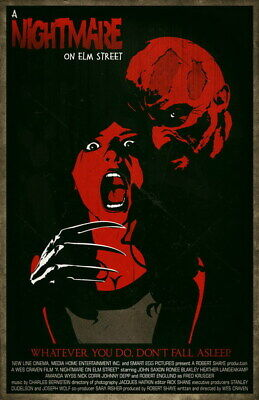 """034 A Nightmare on Elm Street - Classic Horror USA Movie 24""""x37"""" Poster"""
