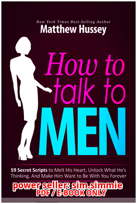 FAST DELIVERY How To Talk To Men Matthew Hussey PDF not a physical book