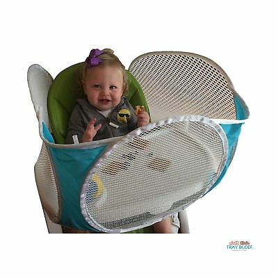 The Original Tray Buddi - Aqua - It's a Playpen for High Chairs, Booster Seat...