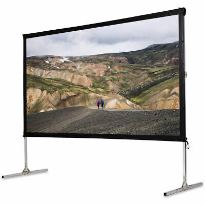 "120"" Standing Portable Fast Folding Projector Screen W/Carry bag Indoor Outdoor"