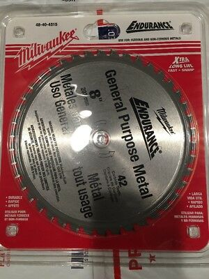 Milwaukee 48-40-4515 Blade 8 in. 42 Tooth Dry Cut Cermet Tipped