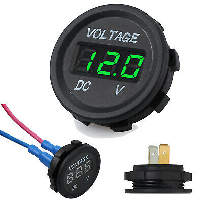 Digital LED Panel DC Voltmeter Voltage Meter Display For Car Motorcycle Boat 12V