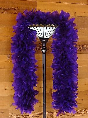 Large Ruff Feather Boa - PURPLE - Outstanding Show Biz Quality
