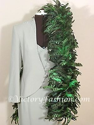 Coque Feather Boa  Green -  Costume Show Dance