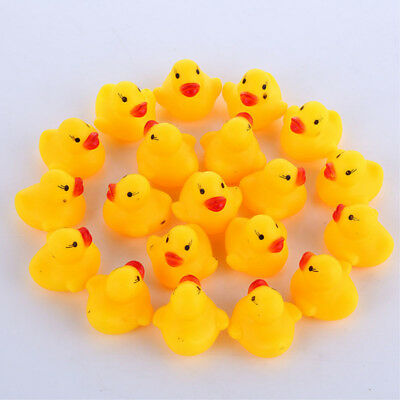 Baby Mini Yellow Bathtime Rubber Duck Ducks Bath Toy Squeaky Water Play Kids Gift Products Are Sold Without Limitations Bathing & Grooming