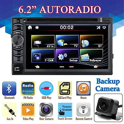 6.2 TOUCH Screen Autoradio DVD MP3 CD Player USB SD AUX 2 Din mit ...