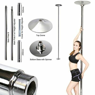 Profi 45mm Tanzstange GoGo Pole Dance Tabledance Tanz static Spinning Edelstahl